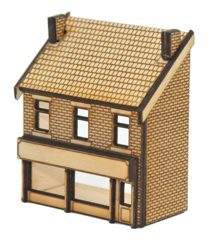 N-SH017 Victorian Shop Type 3 Low Relief Front Right Hand N Gauge Laser Cut Kit