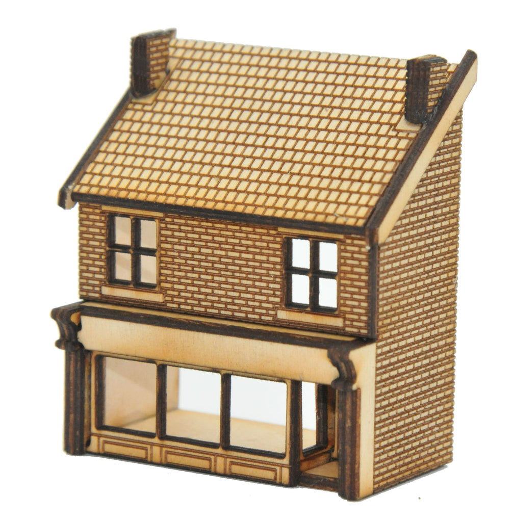 N-SH011 Victorian Shop Type 2 Low Relief Front Right Hand N Gauge Laser Cut Kit