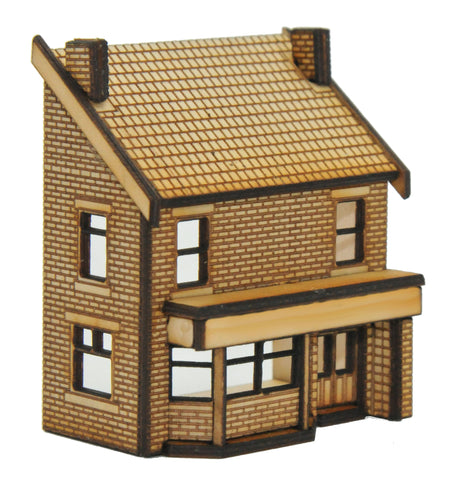 N-PB003 Low Relief Victorian Terraced Pub Left Hand N Gauge Laser Cut Kit