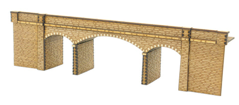 "N-BR008 ""Connors Bridge"" Low Relief Road over Rail Bridge N Gauge Laser Cut Kit"