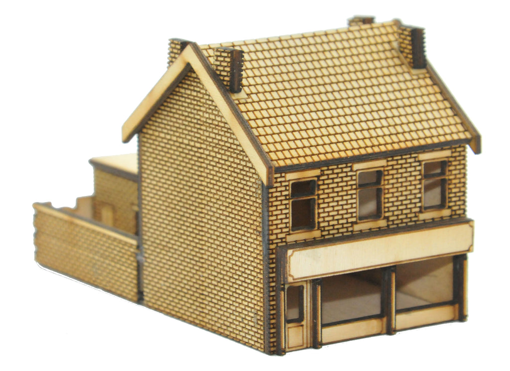 N-SH014 Victorian Terraced Shop Type 3 Left Handed N Gauge Laser Cut Kit