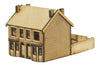 N-HS013 Victorian Double Bay Window Terraced Houses N Gauge Laser Cut Kit