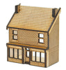 N-SH006 Victorian Terraced Shop Type 1 Low Relief Front N Gauge Laser Cut Kit