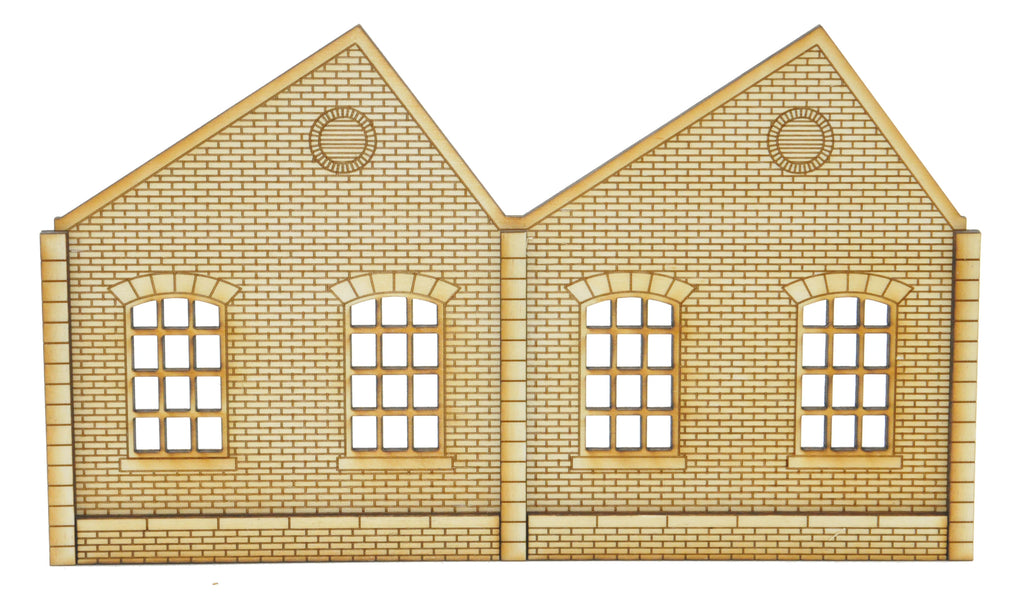 NL001 Ultra Low Relief Single Storey Northlight Factory Right Hand Peak OO Gauge Kit