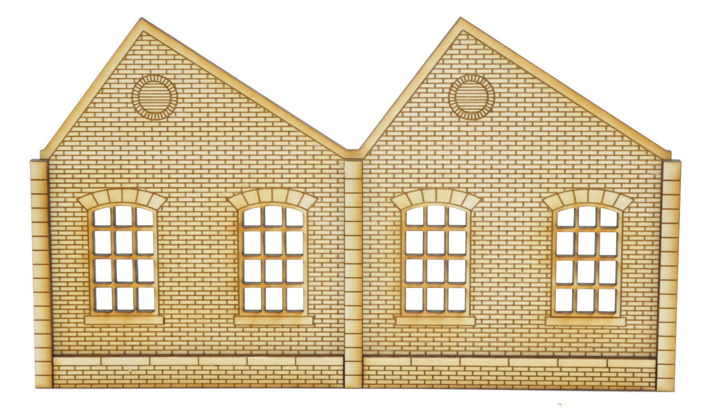 NL005 Ultra Low Relief Single Storey Northlight Factory Left Hand Peak OO Gauge Kit