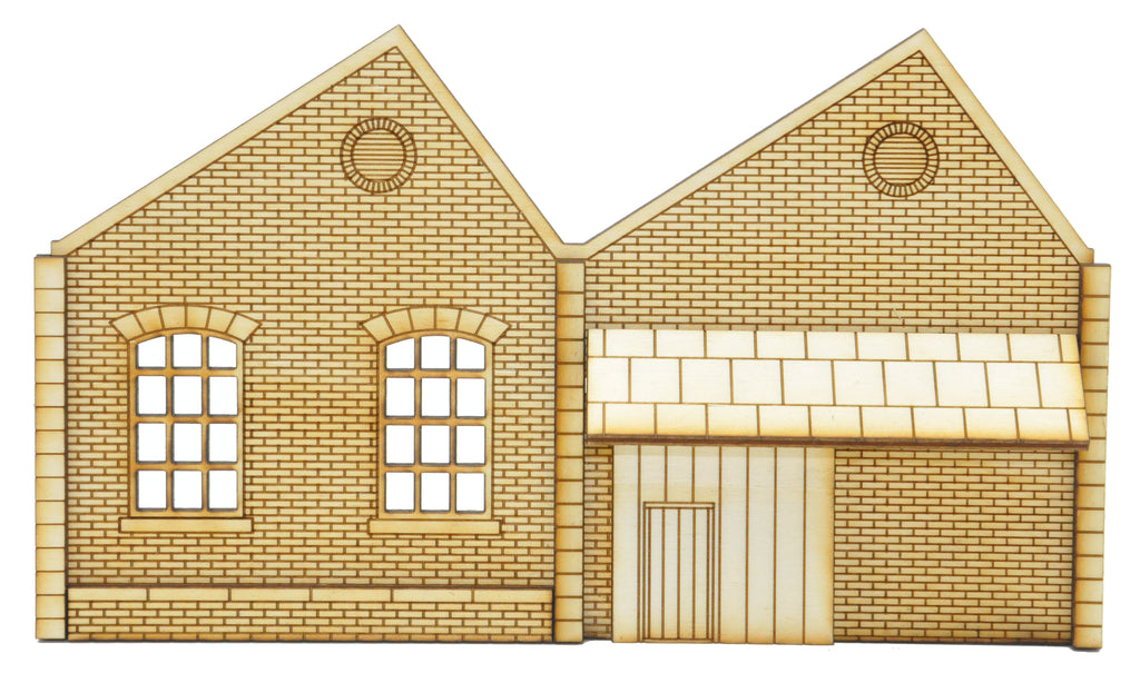 NL003 Ultra Low Relief Northlight Factory with Ground Level Loading Door Right Hand Peak OO Gauge Kit