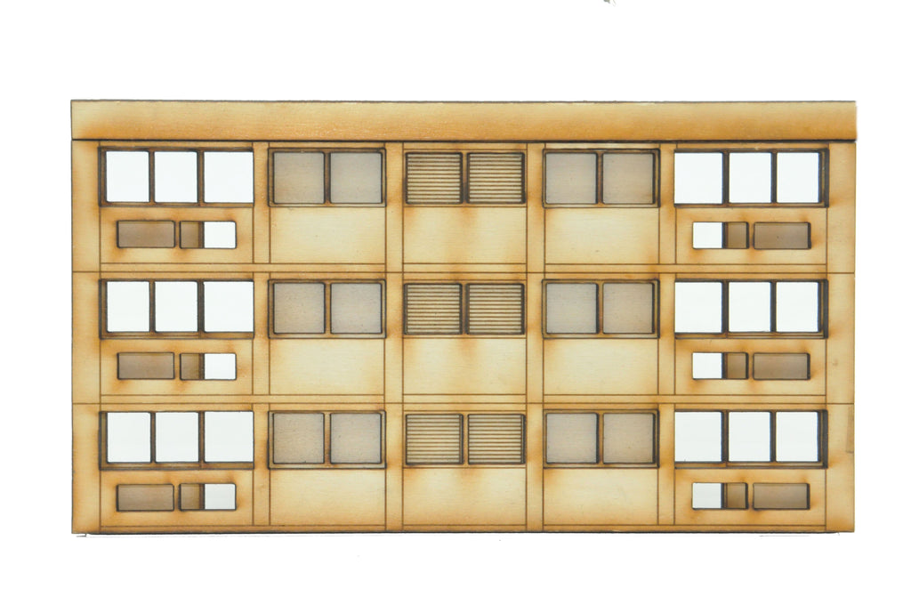 FL003 3 Storey Extension for Low Relief Block of Flats OO Gauge Laser Cut Kit