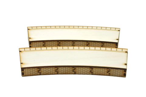 PS011 Single Sided Inner 3rd Radius Curved Platform Twin OO Gauge Laser Cut Kit