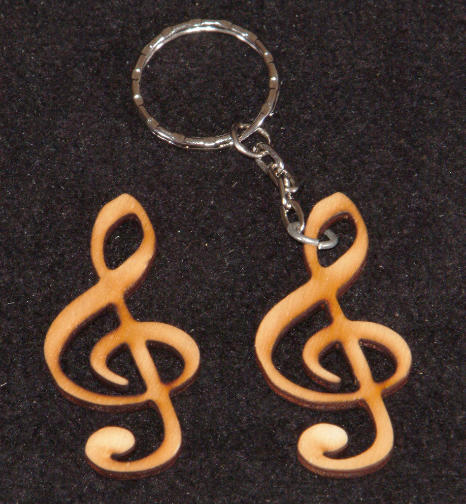 Treble Cleff small shapes / Keyrings