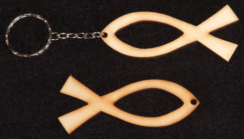 Small Fish or Ichtus shapes / Keyrings