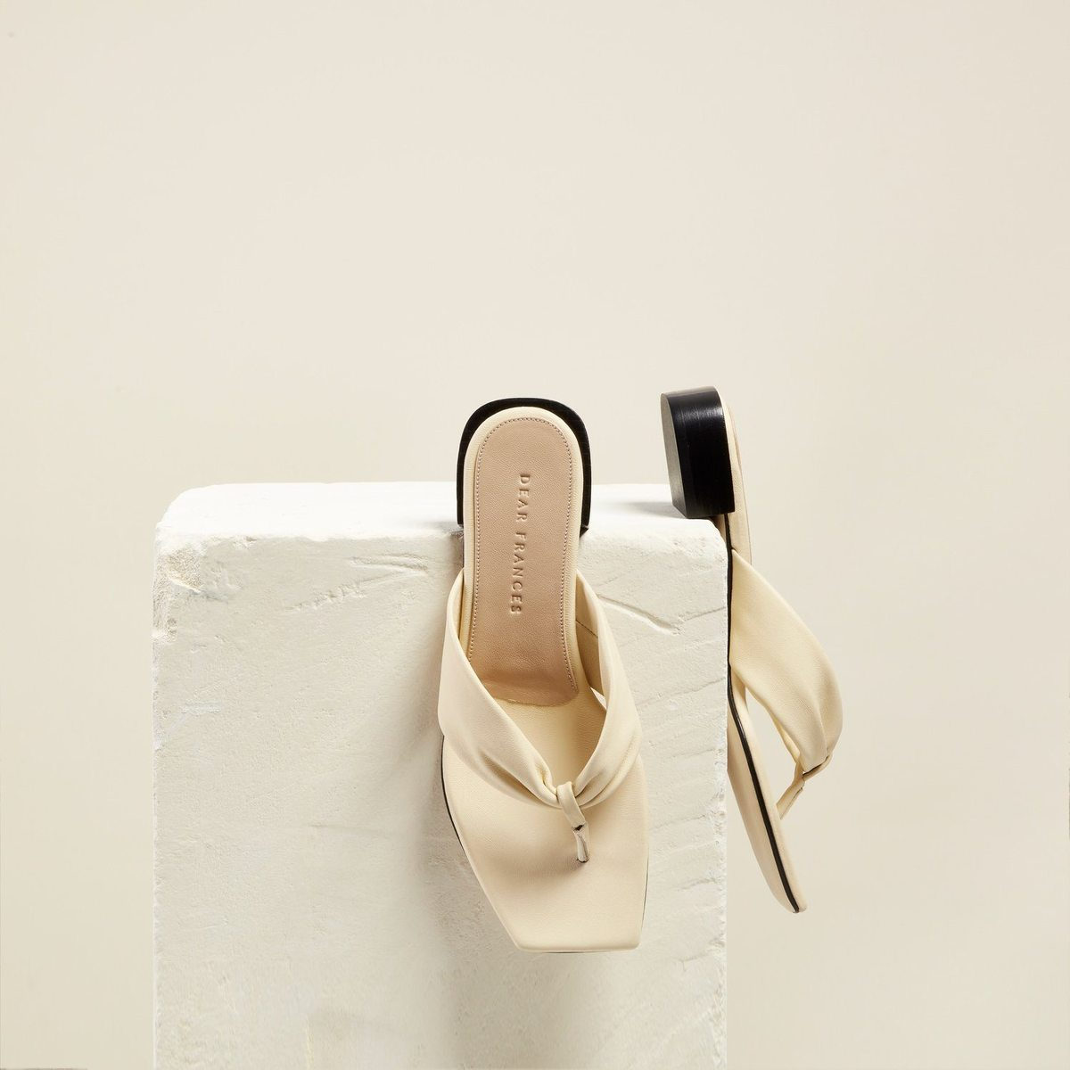 Wrap Sandal, Cream