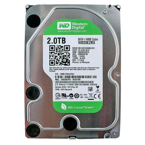 "Western Digital Green 2TB 64MB Cache SATA 6.0Gb/s 3.5"" Internal Hard Drive"