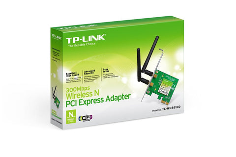 TP-LINK TL-WN881ND 300Mbps Wireless N N300 PCI-E Express Adapter 2T2R MIMO PCIe card