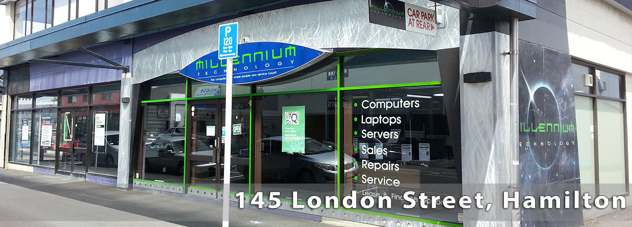 Find us at 145 London Street, Hamilton