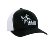 Black/White Retro Trucker Cap