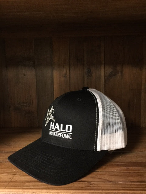 Black Retro Trucker Cap
