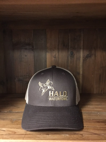 Brown and Khaki w/ Full HALO Mallard Logo Retro Trucker Cap