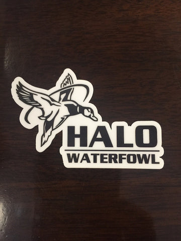 Small Vinyl Die Cut HALO Waterfowl Decal
