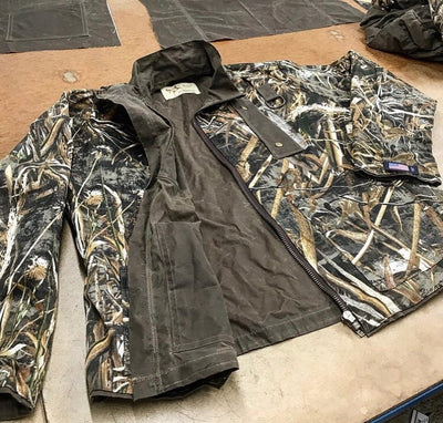 Brown Waxed Canvas/Realtree Max-5 Reversible Hunting Jacket