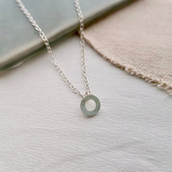 Small Circle Necklace - Anna Calvert Jewellery Handmade in the UK