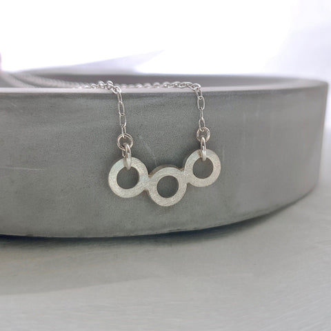 Silver Linked Necklace, Necklace - Anna Calvert Jewellery Handmade in the  UK