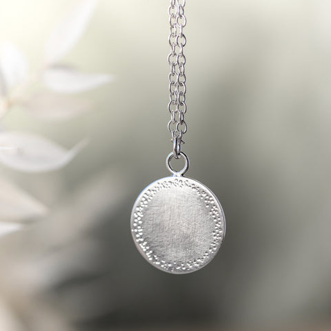 Dappled Sunlight Silver Necklace