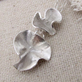 Silver Double Blossom Necklace, Necklace - Anna Calvert Jewellery Handmade in the  UK