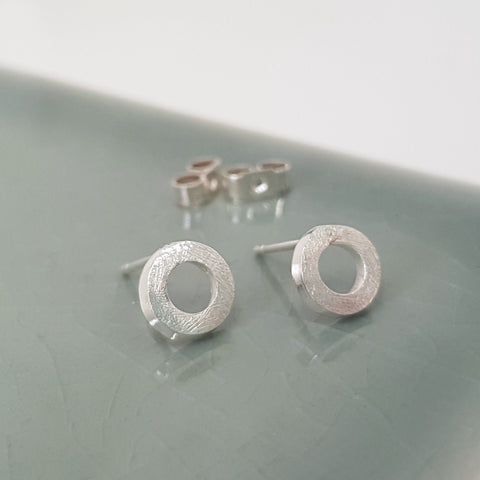 Small Silver Stud Earrings - Anna Calvert Jewellery Handmade in UK