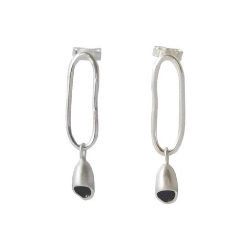 Silver Linked Earrings, Earrings - Anna Calvert Jewellery