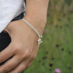 Silver Blossom Bracelet, Bracelet - Anna Calvert Jewellery Handmade in the  UK