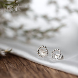 Silver Circle Studs Earrings
