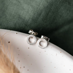 Silver Small Link Studs