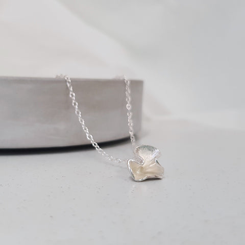 Silver Blossom Necklace - Small, Necklace - Anna Calvert Jewellery Handmade in the  UK