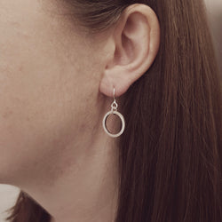 Silver Circle Hook Earrings, Earrings - Anna Calvert Jewellery Handmade in the  UK