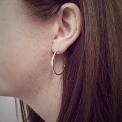 Silver Hoop Earrings, Earrings - Anna Calvert Jewellery Handmade in the  UK