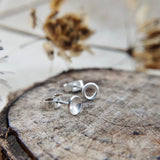 Mismatched Silver Studs - Dome and Circle