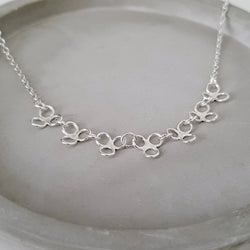 Silver Petal Necklace, Necklace - Anna Calvert Jewellery Handmade in the  UK