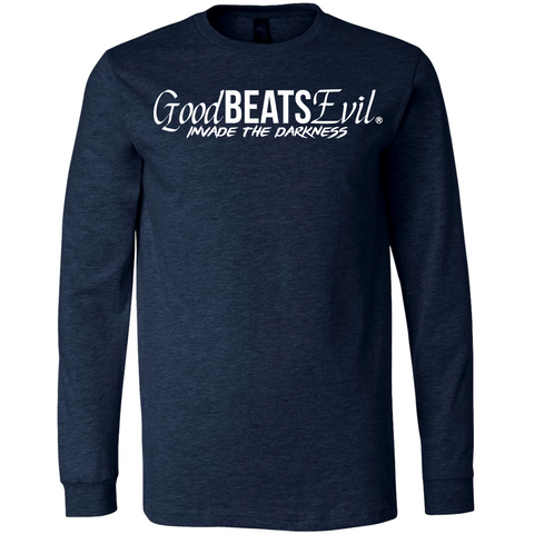 Navy Blue Long Sleeve Logo Chest Print