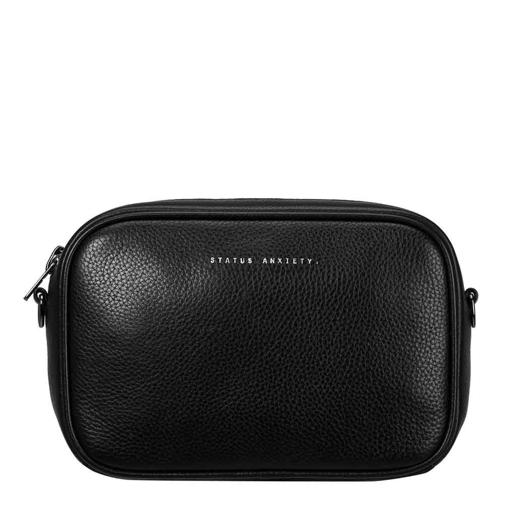 Status Anxiety cross body handbag black front