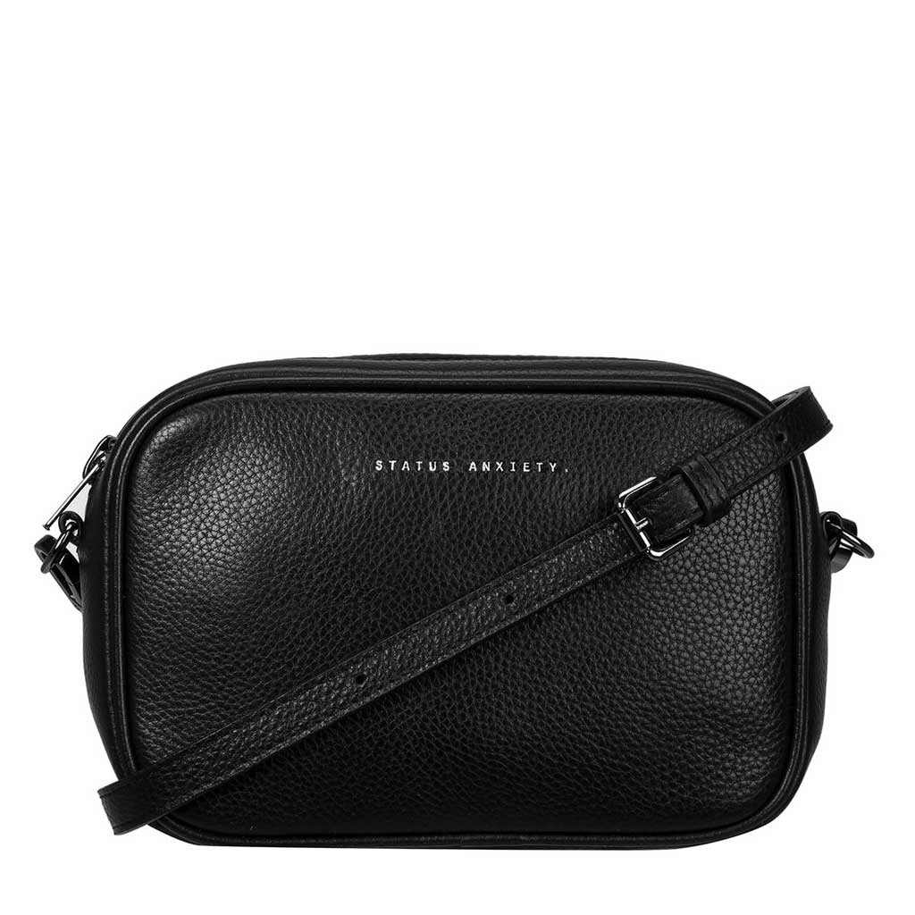 Status Anxiety cross body handbag black strap