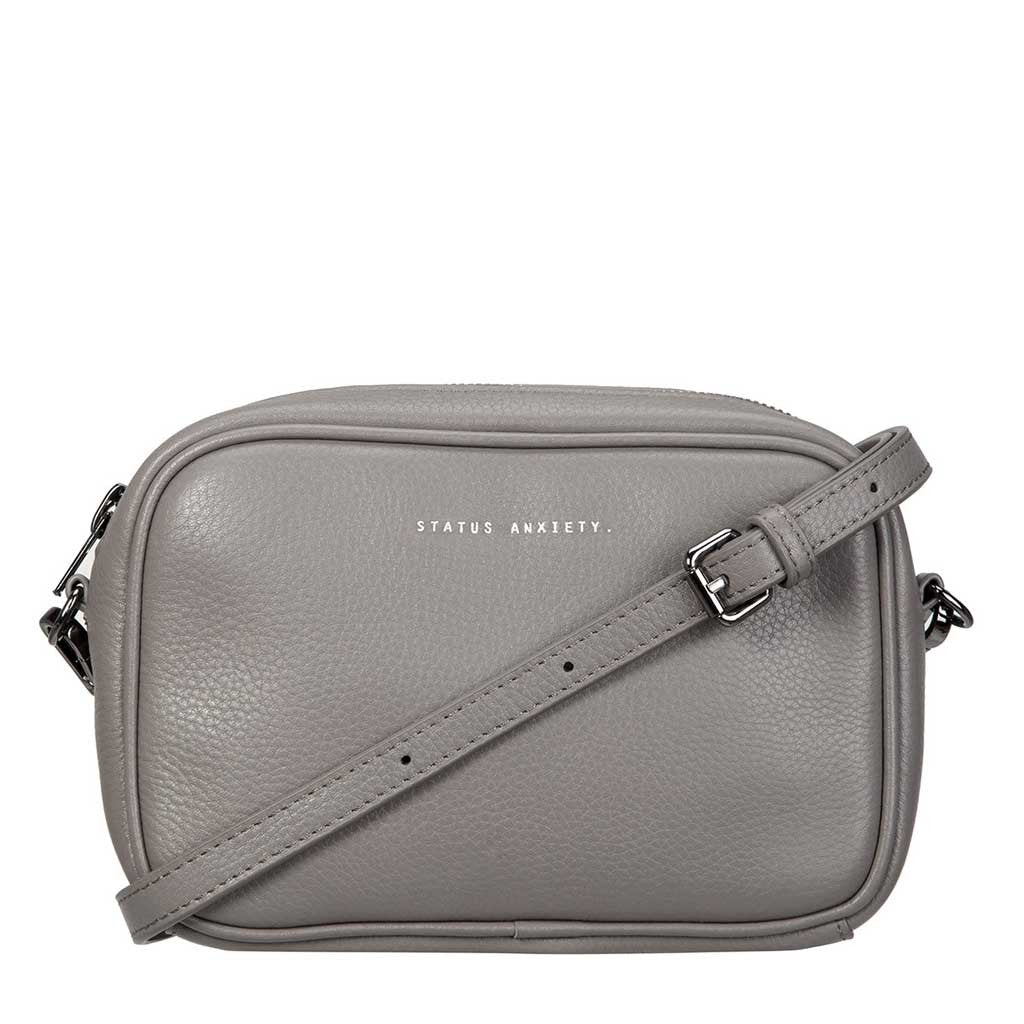 Status Anxiety cross body handbag cement grey strap