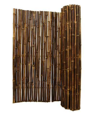 "1"" 8' x 8' Black Bamboo Fence roll"