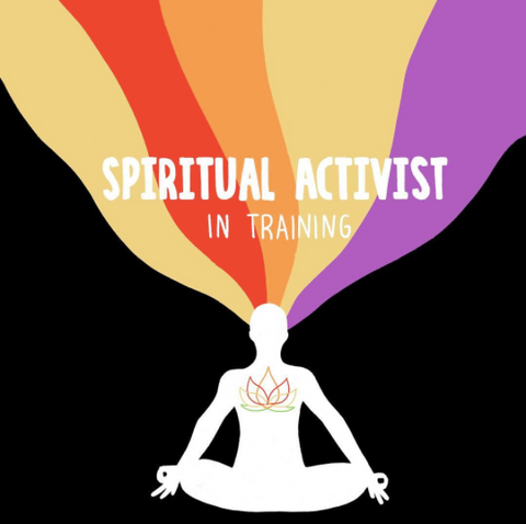 spiritual activist in training mindfulness graphic hand letter