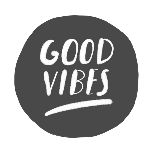 good vibes hand lettering t-shirt design