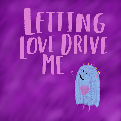 letting love drive me hand letter happy ghost