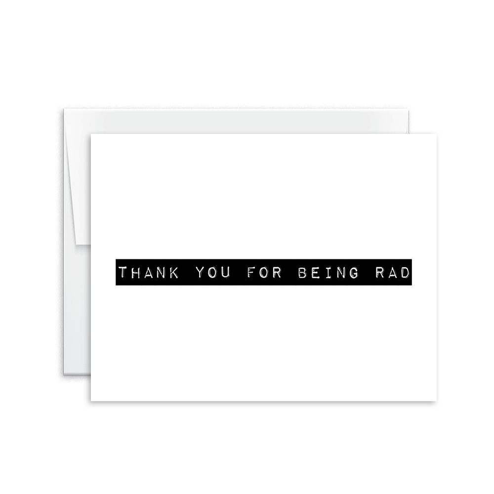 Thank You For Being Rad Card [product type] - Hello Happiness Card Co