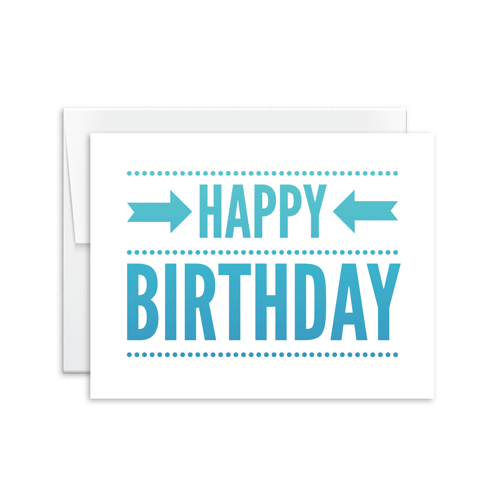 Happy Birthday (Blue) Card [product type] - Hello Happiness Card Co