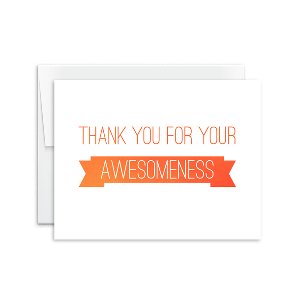 Thank You for Your Awesomeness Card [product type] - Hello Happiness Card Co