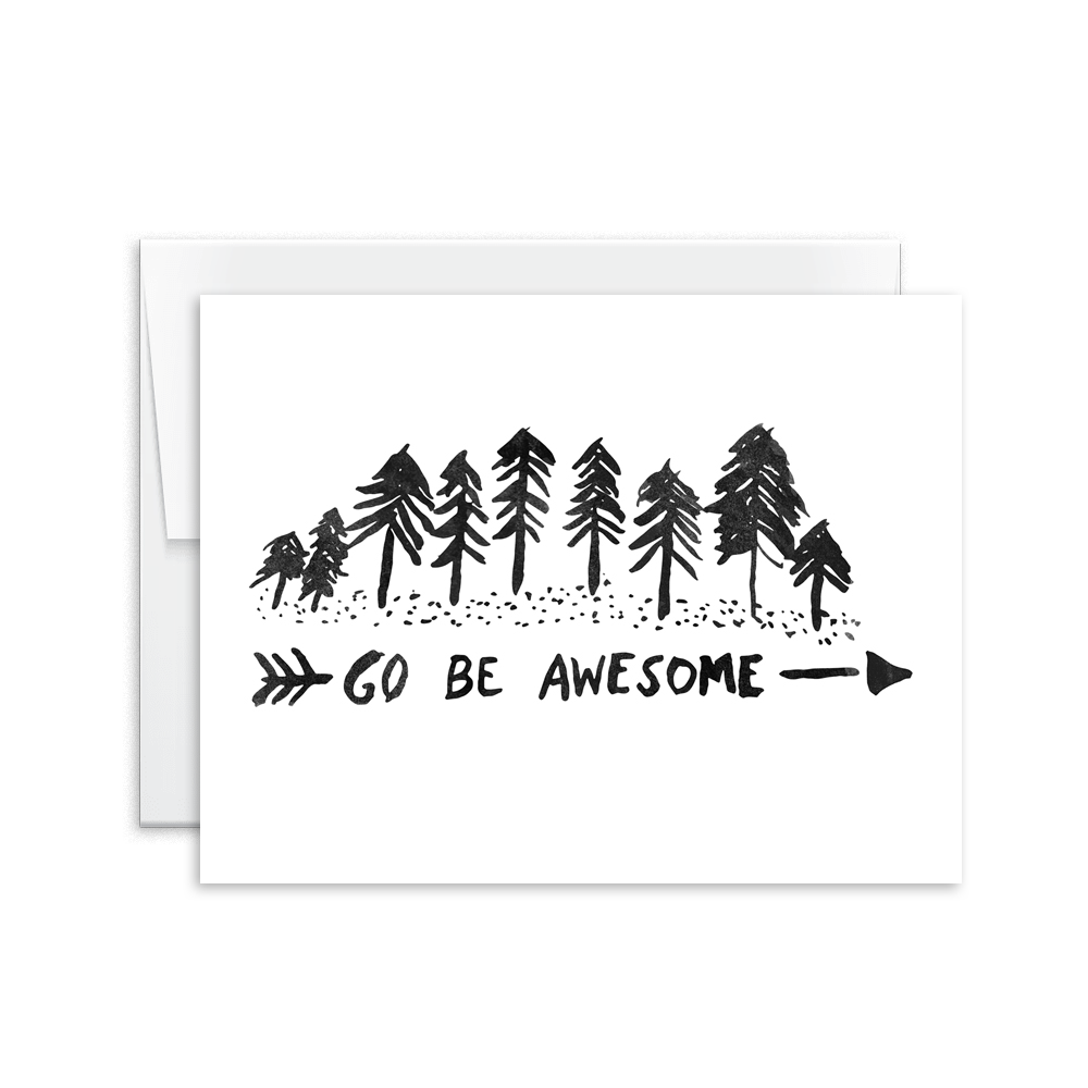 Go Be Awesome Card [product type] - Hello Happiness Card Co