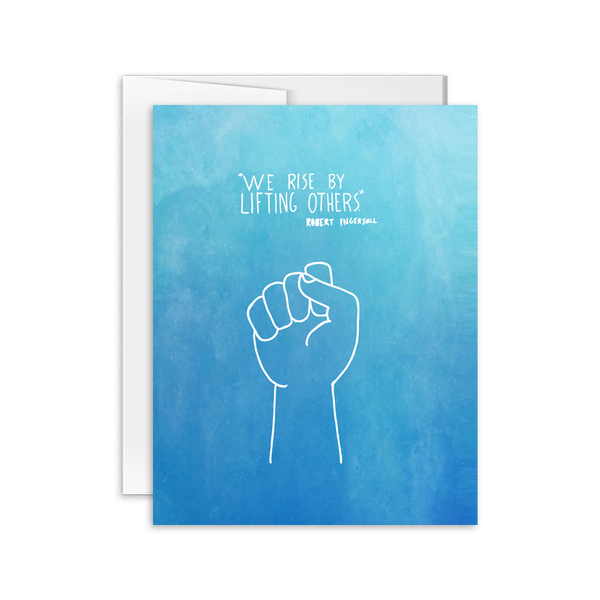 We Rise By Lifting Others Card [product type] - Hello Happiness Card Co